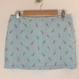 Vineyard Vines Seersucker Print Miniskirt